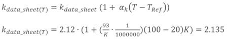 Variación del factor k con la temperatura