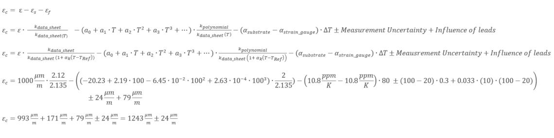 Fórmula final de corrección de la temperatura