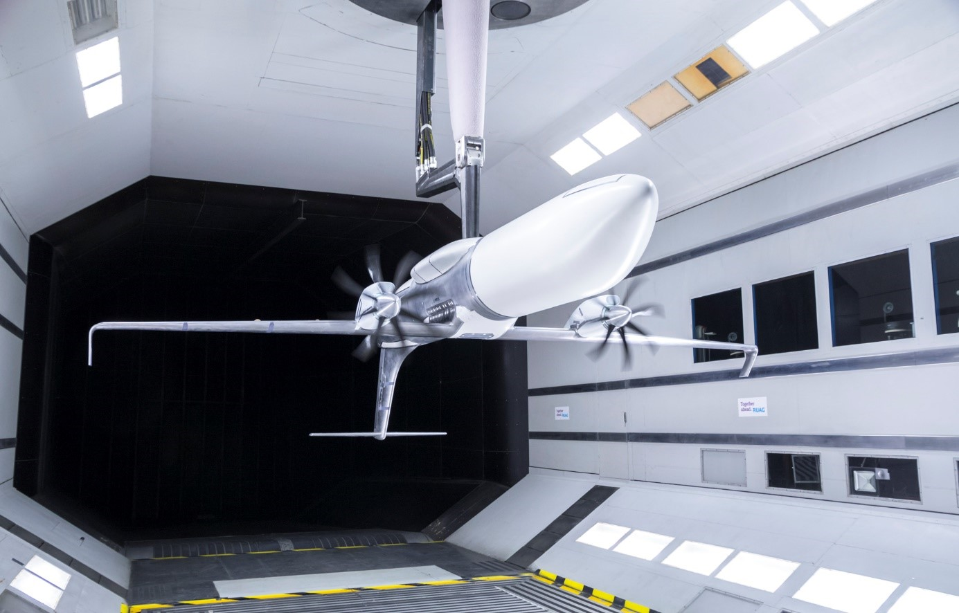 The LOSITA wind tunnel model at RUAG.