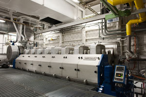 Engine room of a Wärtsilä ship