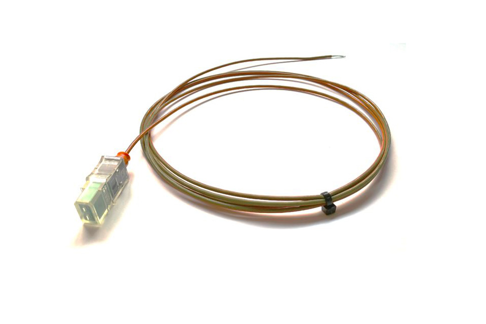 Type-K insulated thermocouple for the QuantumX MX809B module.