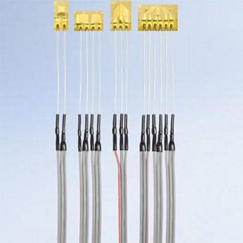 Strain gauges: Pre-wired