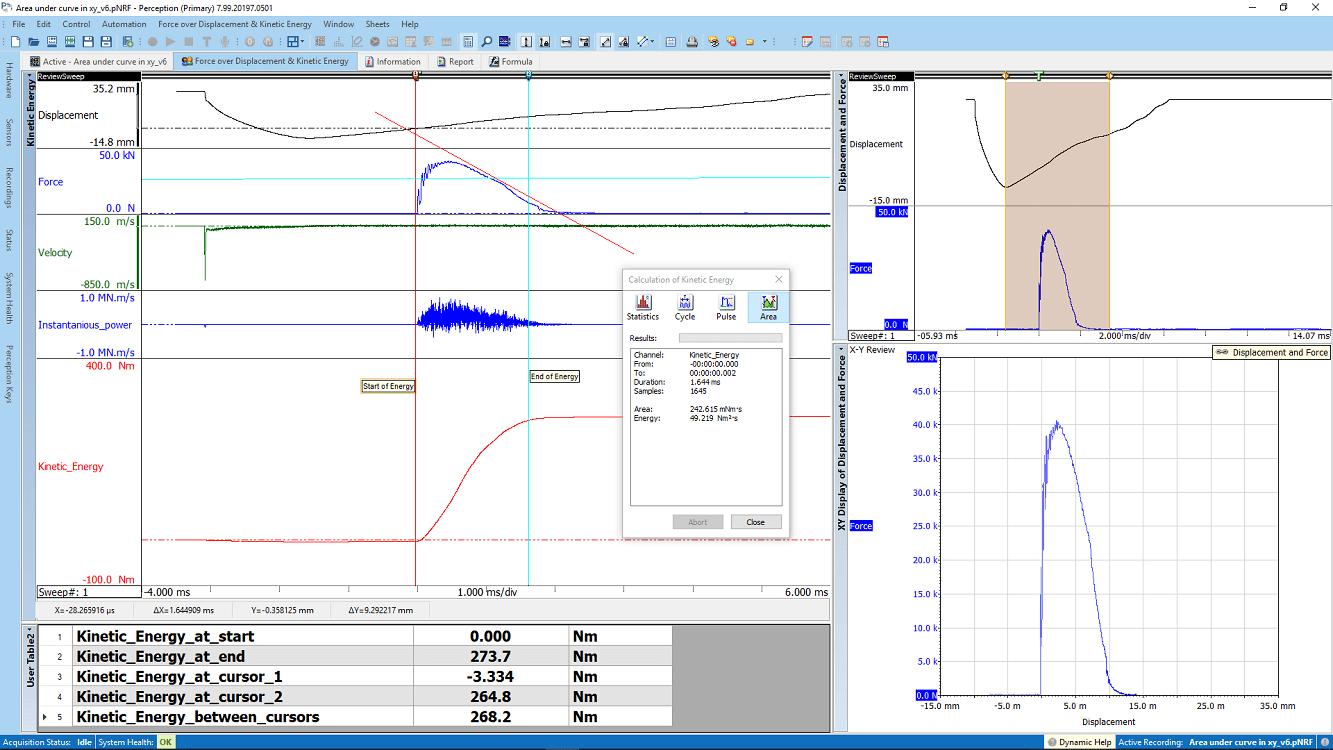 Charpy pendulum impact with Energy