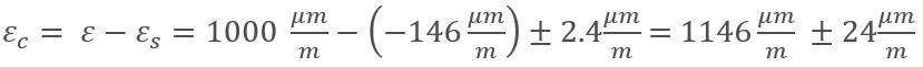 Señal de deformación corregida por ajuste del factor k