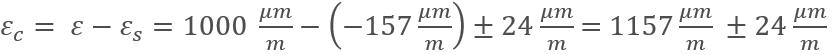 Valor de deformación corregido sin deformación térmica