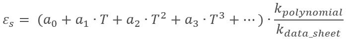 Polinomio térmico con ajuste del factor k